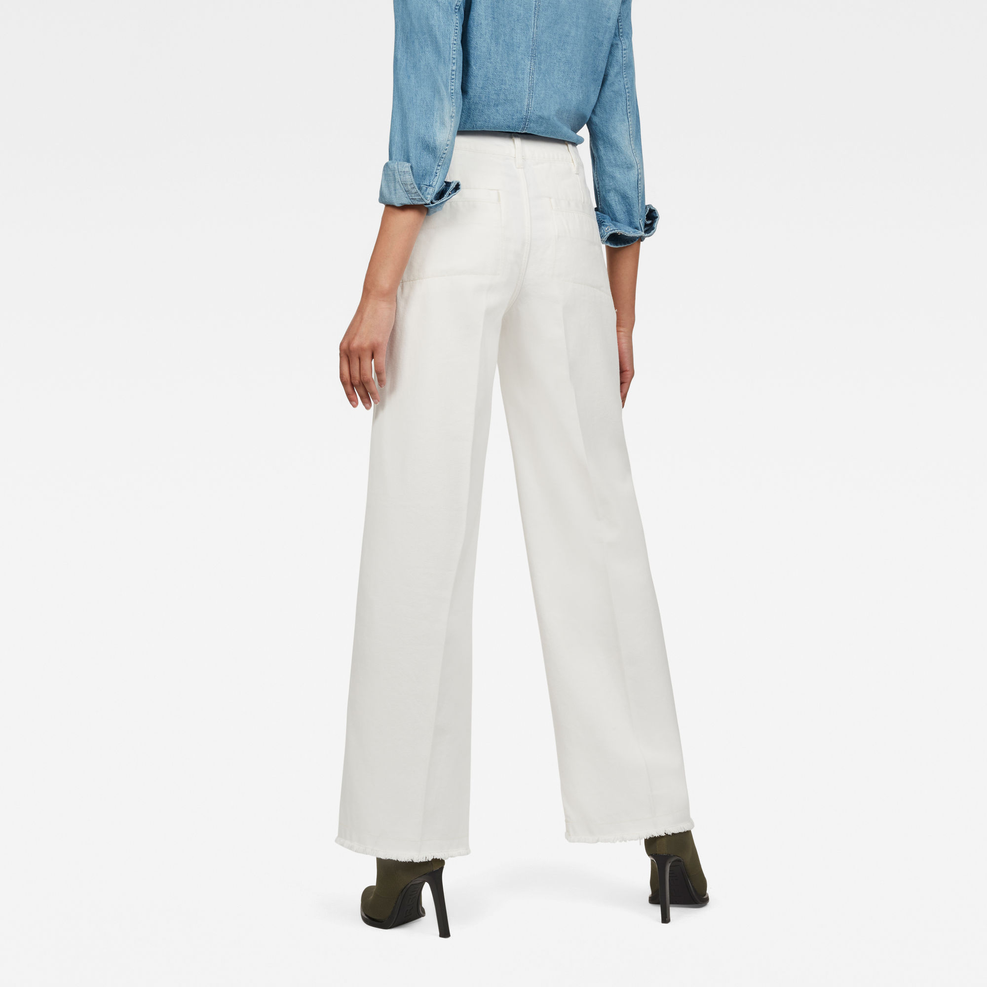 G-Star RAW Page High Wide Fringe Trousers