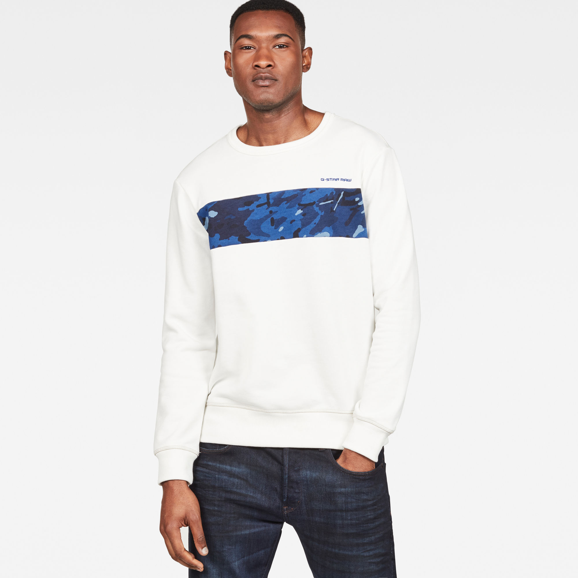 Van G Star Raw Core Camo Block Sweater Prijsvergelijk nu!