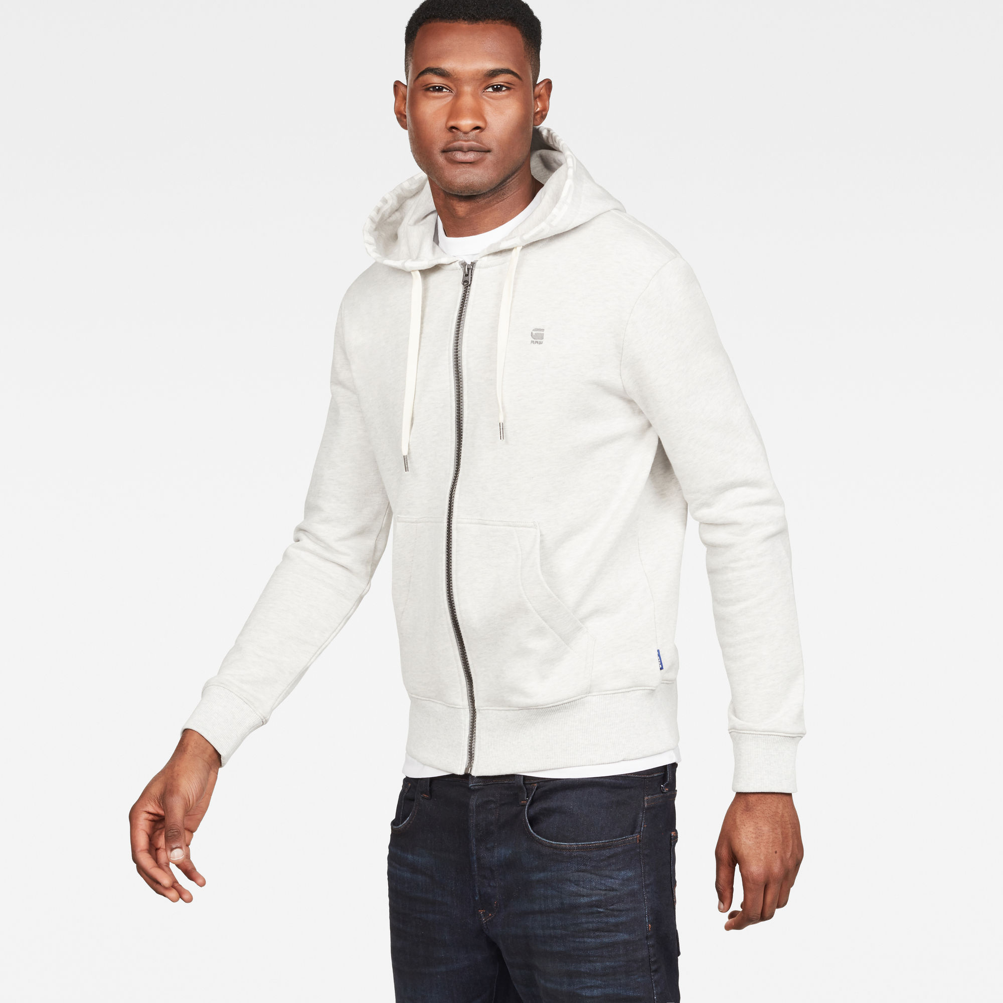 Graphic 8 Core Zip Through Hooded Sweater