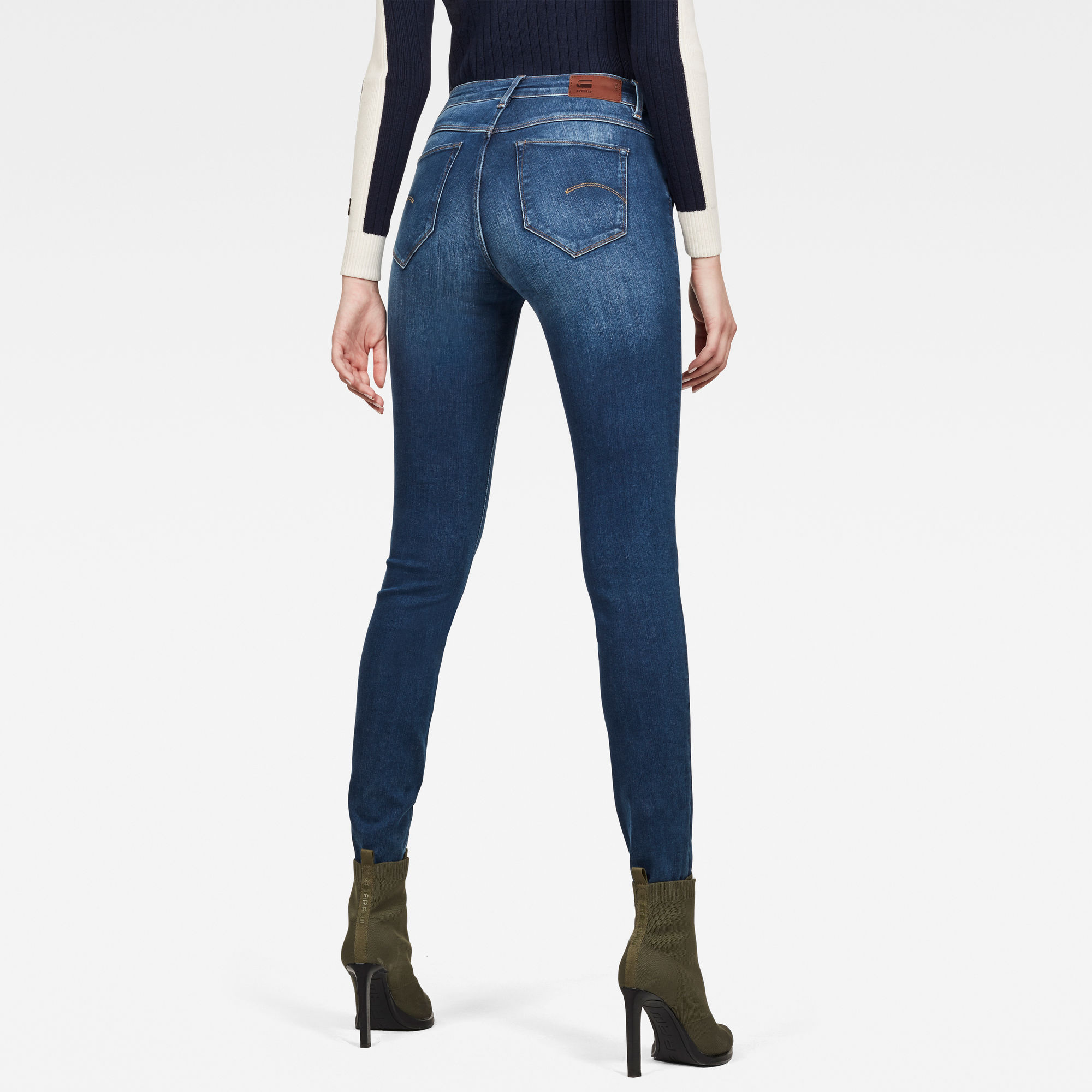 G-Star Shape Zip High Waist Super Skinny Jeans