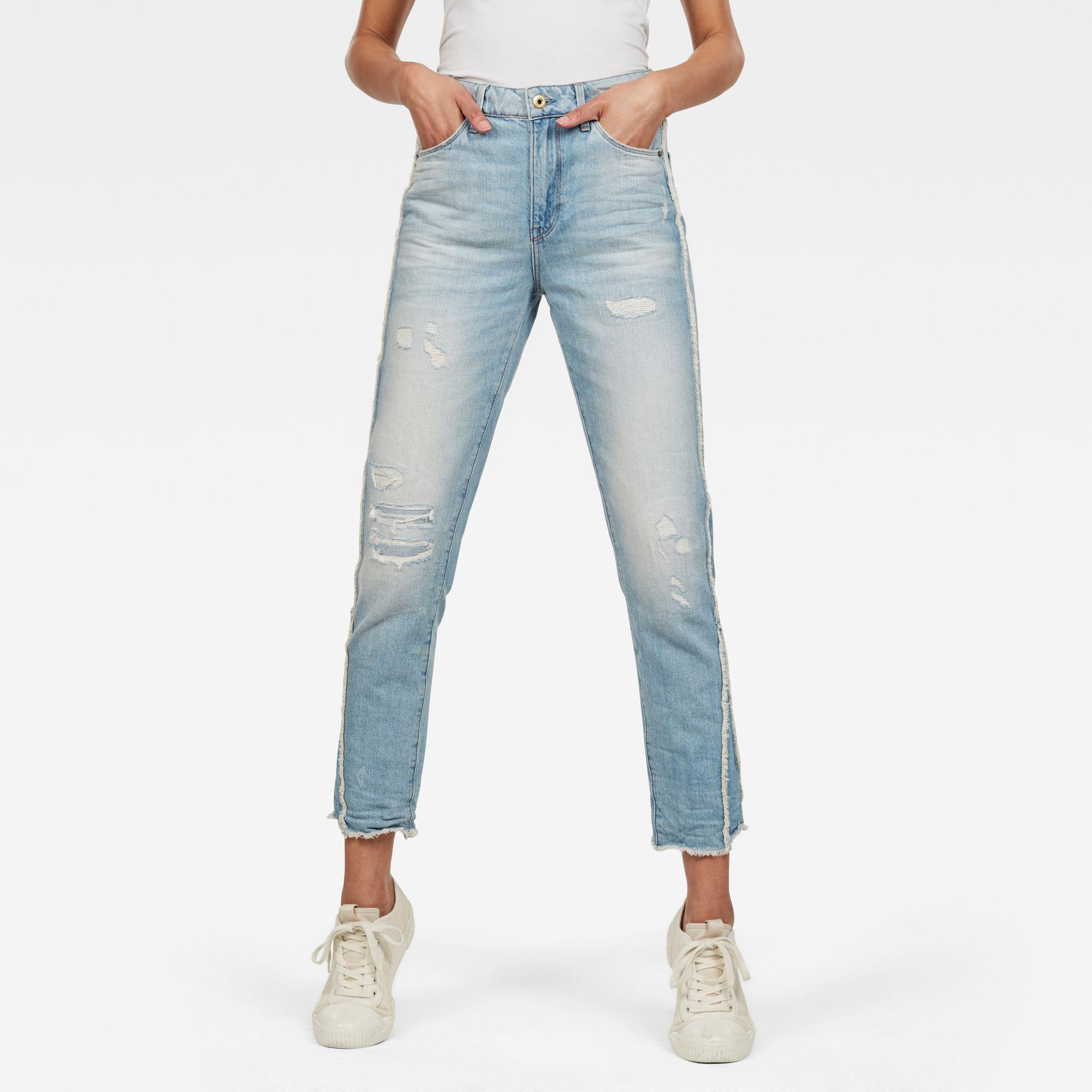 Van G Star Raw 3301 Fringe RP High Straight Ankle Jeans Prijsvergelijk nu!