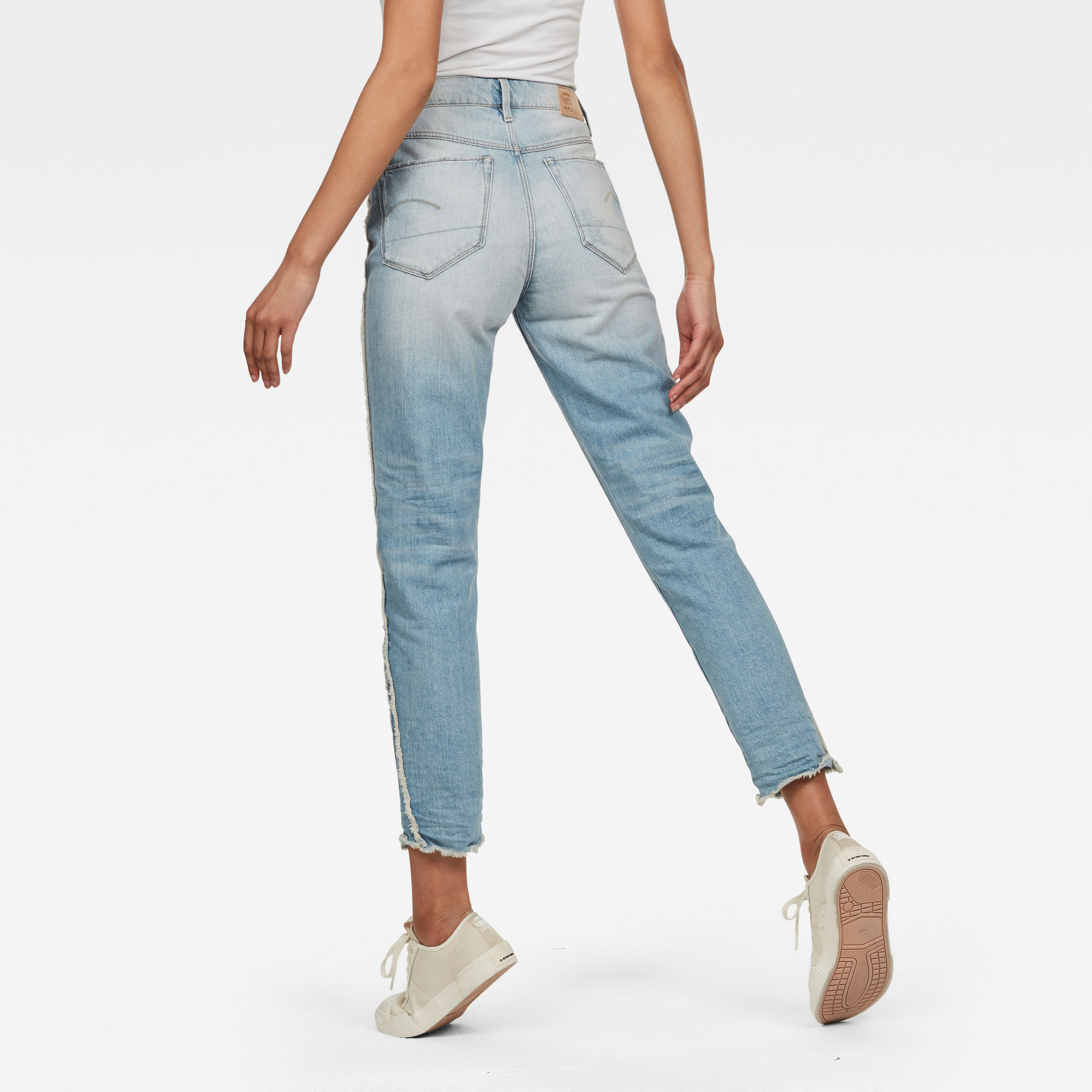 G-Star RAW 3301 Fringe RP High Straight Ankle Jeans