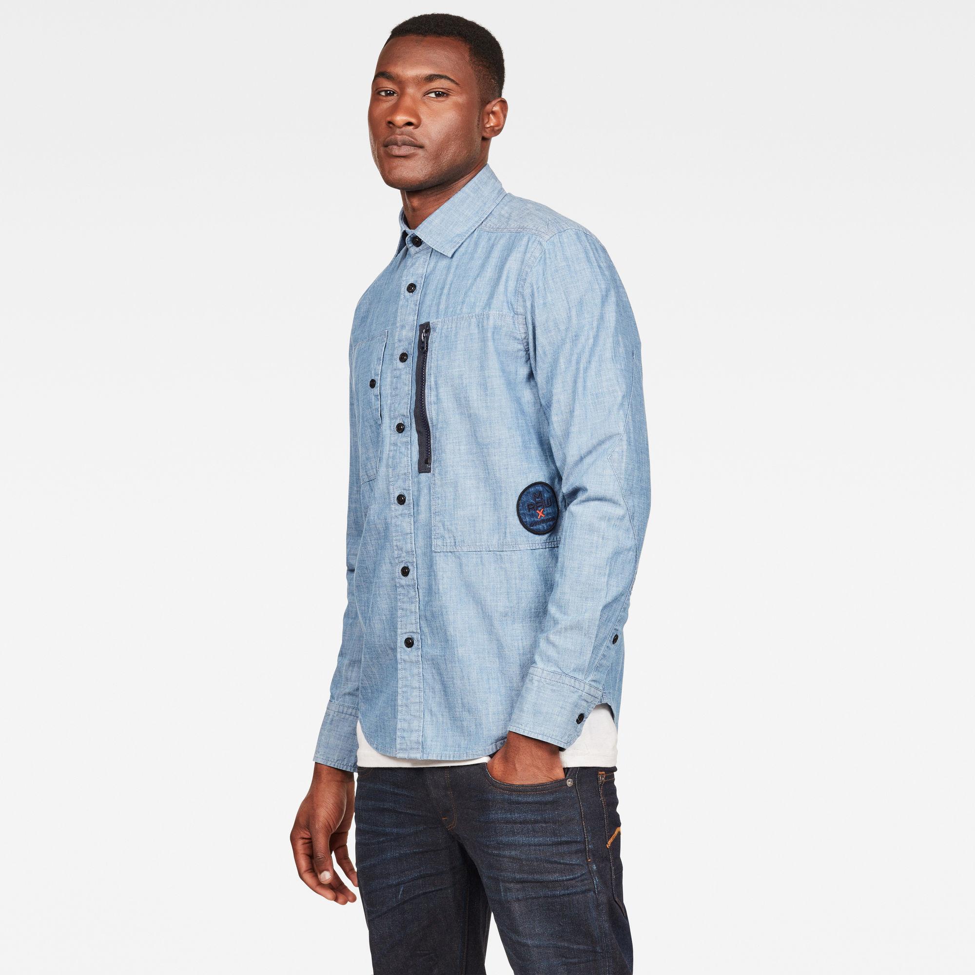 MAXRAW II Powel Chambray Slim Overhemd