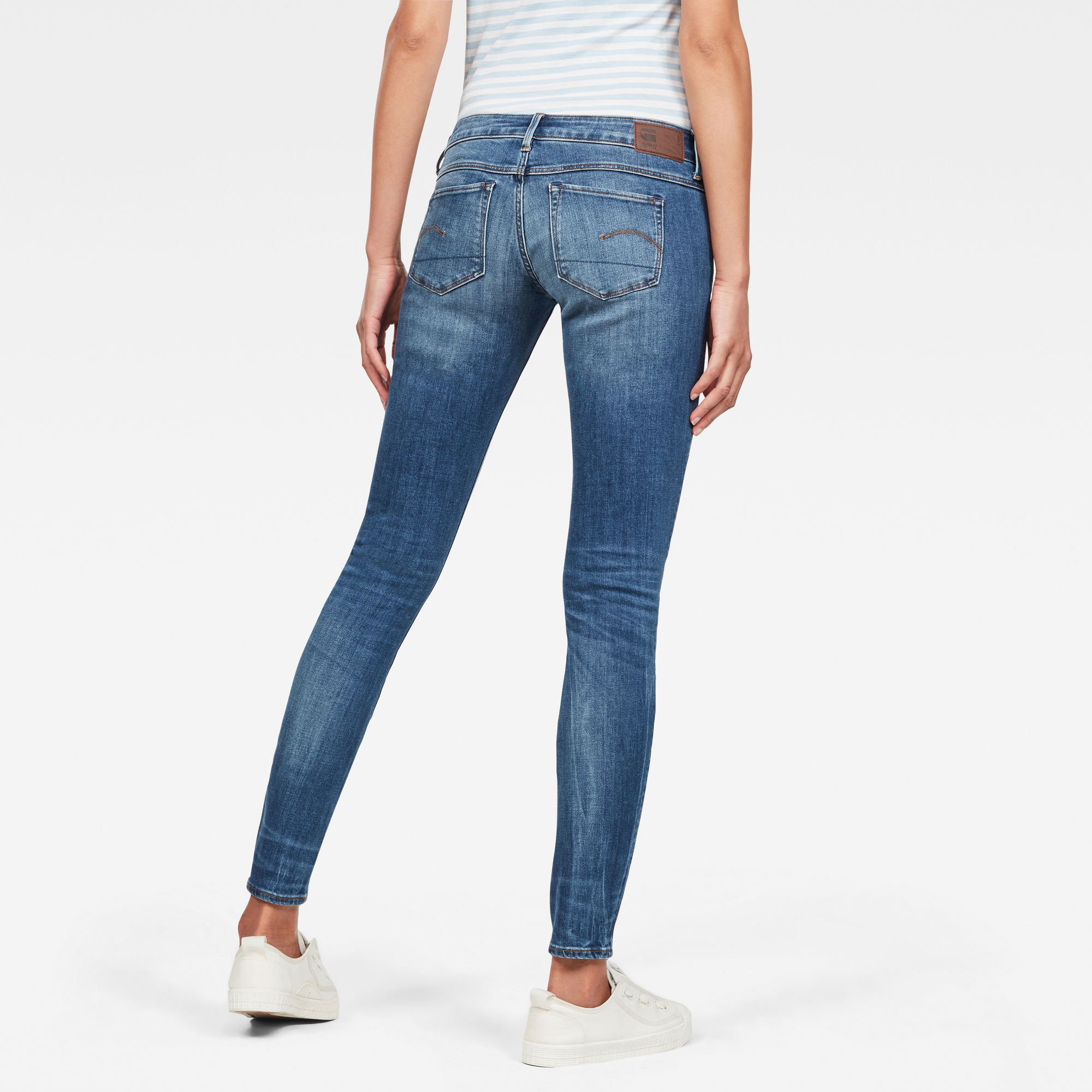 3301 Deconsructed Low Waist Skinny Jeans