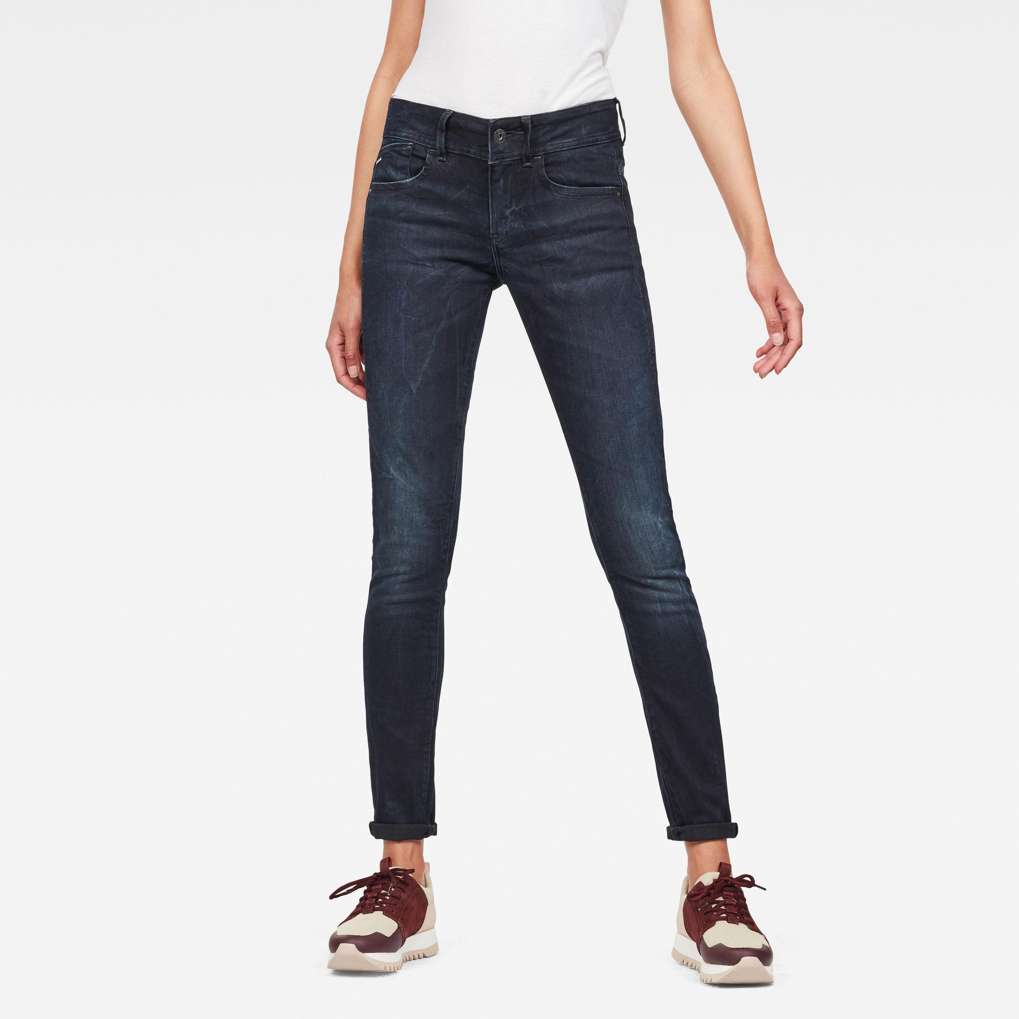 Lynn Mid Waist Skinny Jeans kopen Donkerblauw