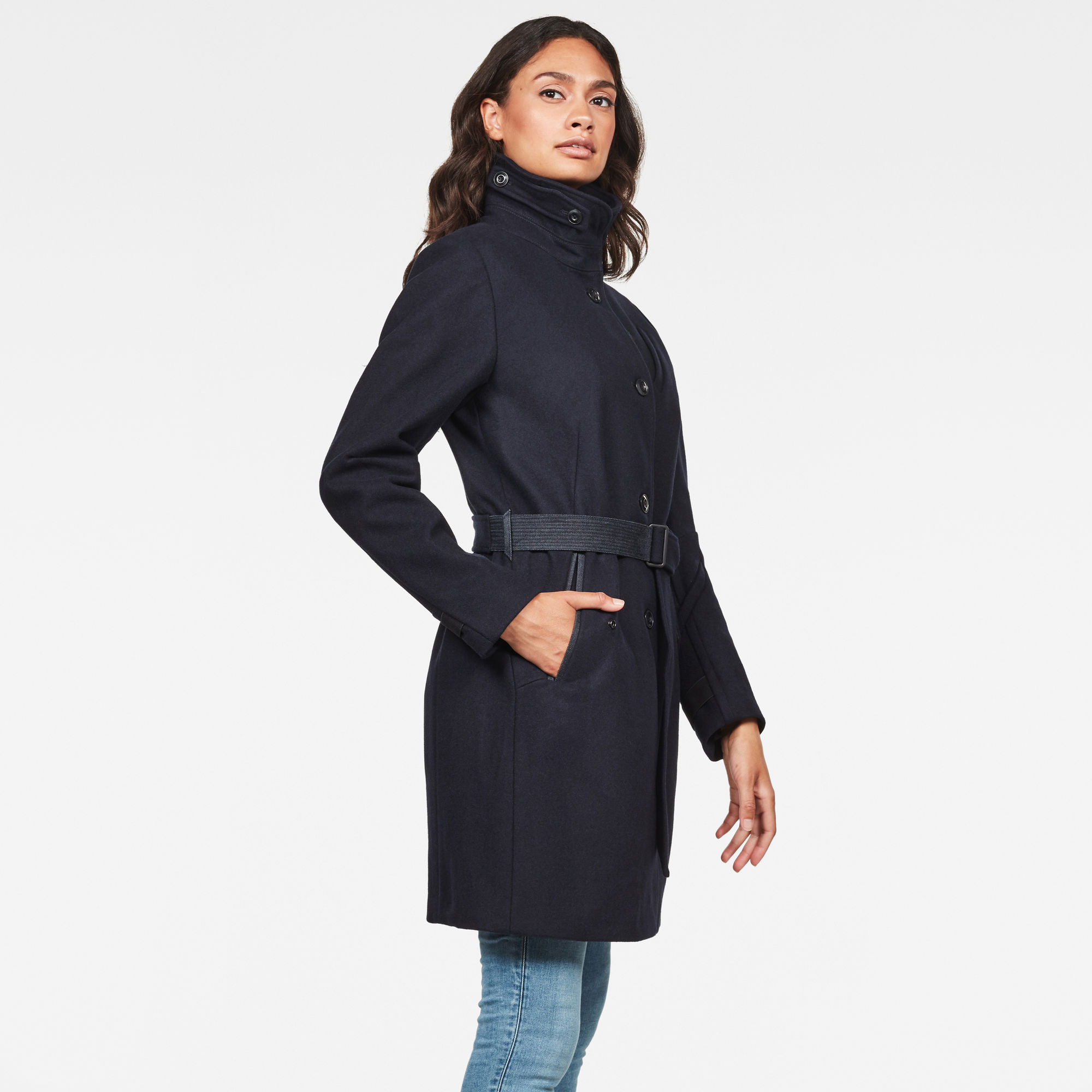 G-Star RAW Empral Wollen Trenchcoat