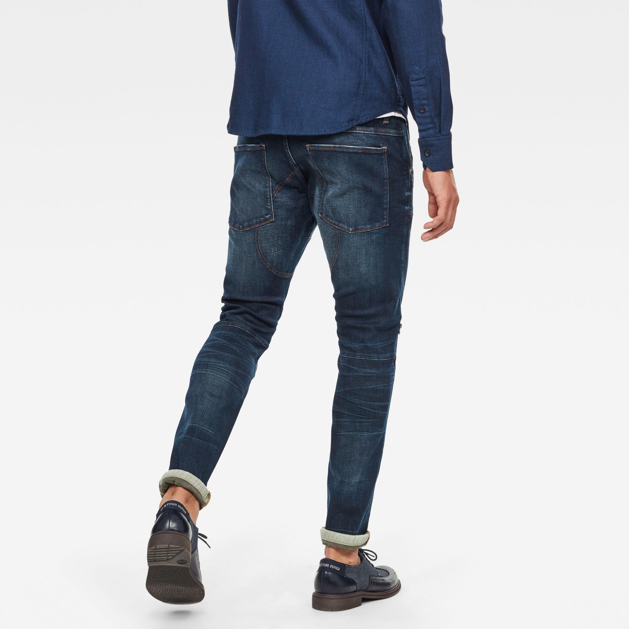 5620 3D Knie Rits Skinny Jeans