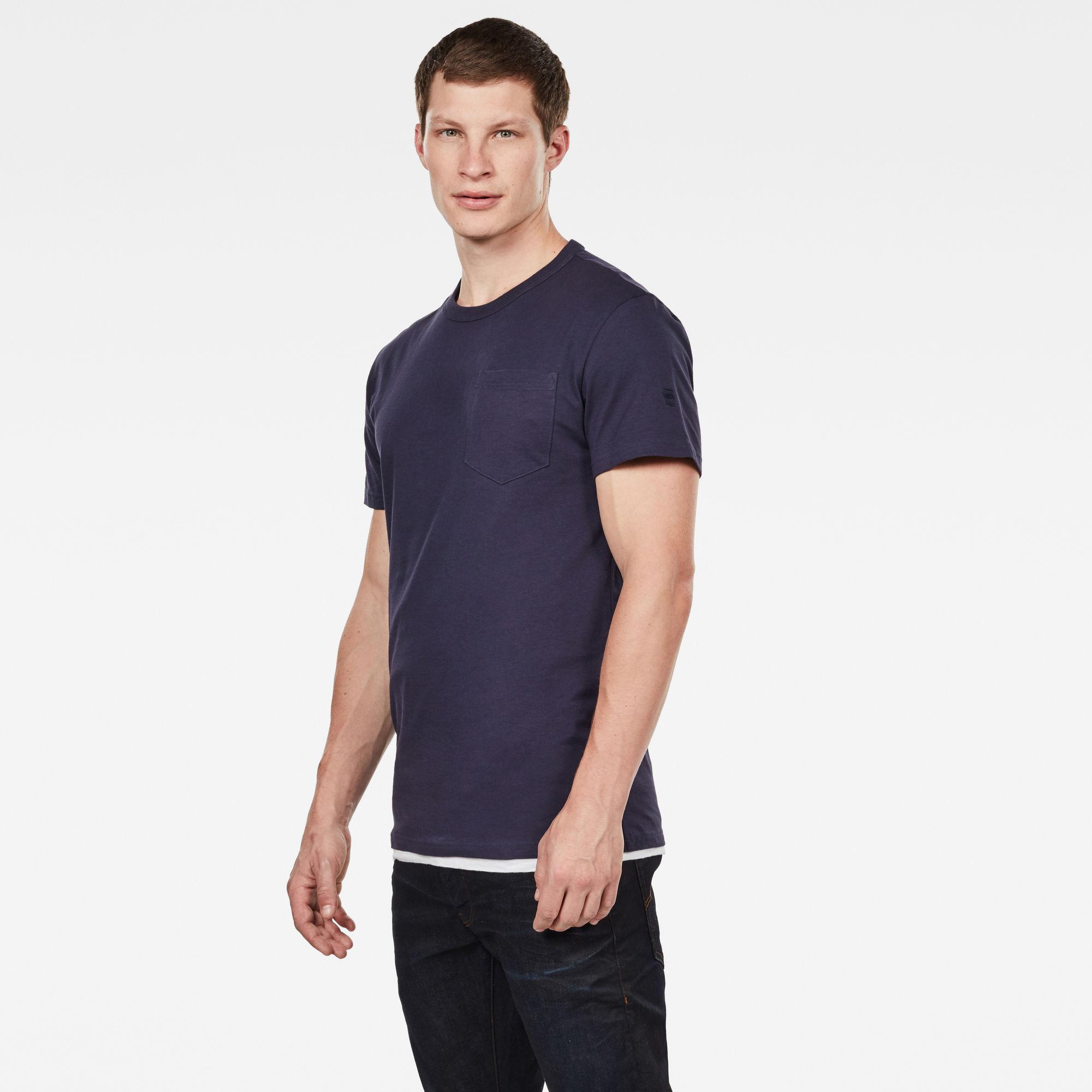 Straight Round Pocket T-Shirt