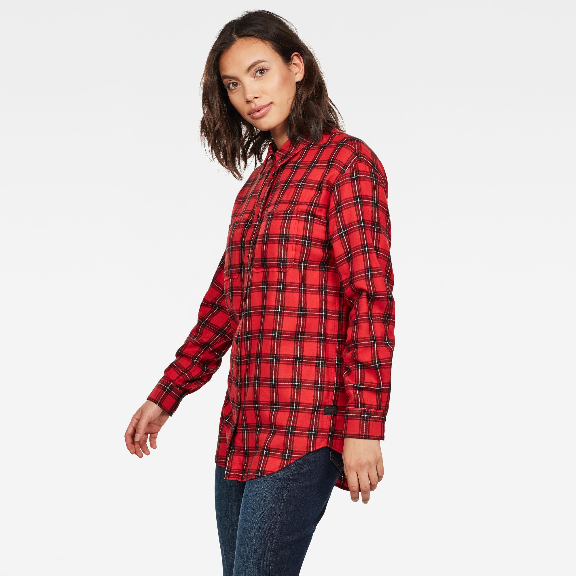 Parota Geruit Boyfriend Overhemd