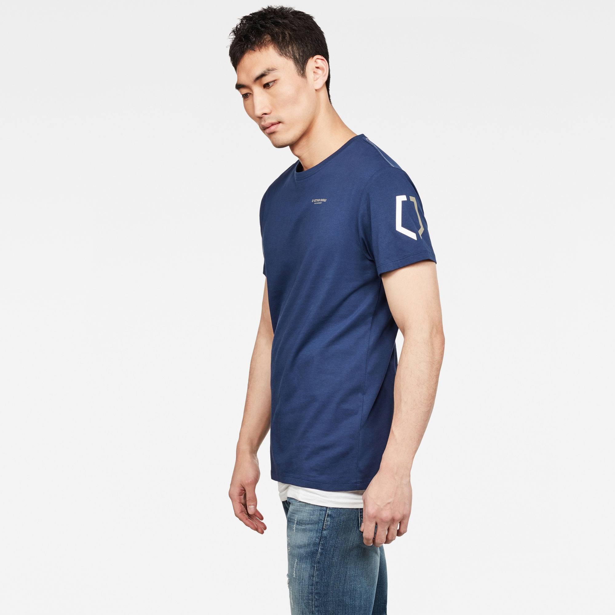 Sleeve Shield Print T-Shirt