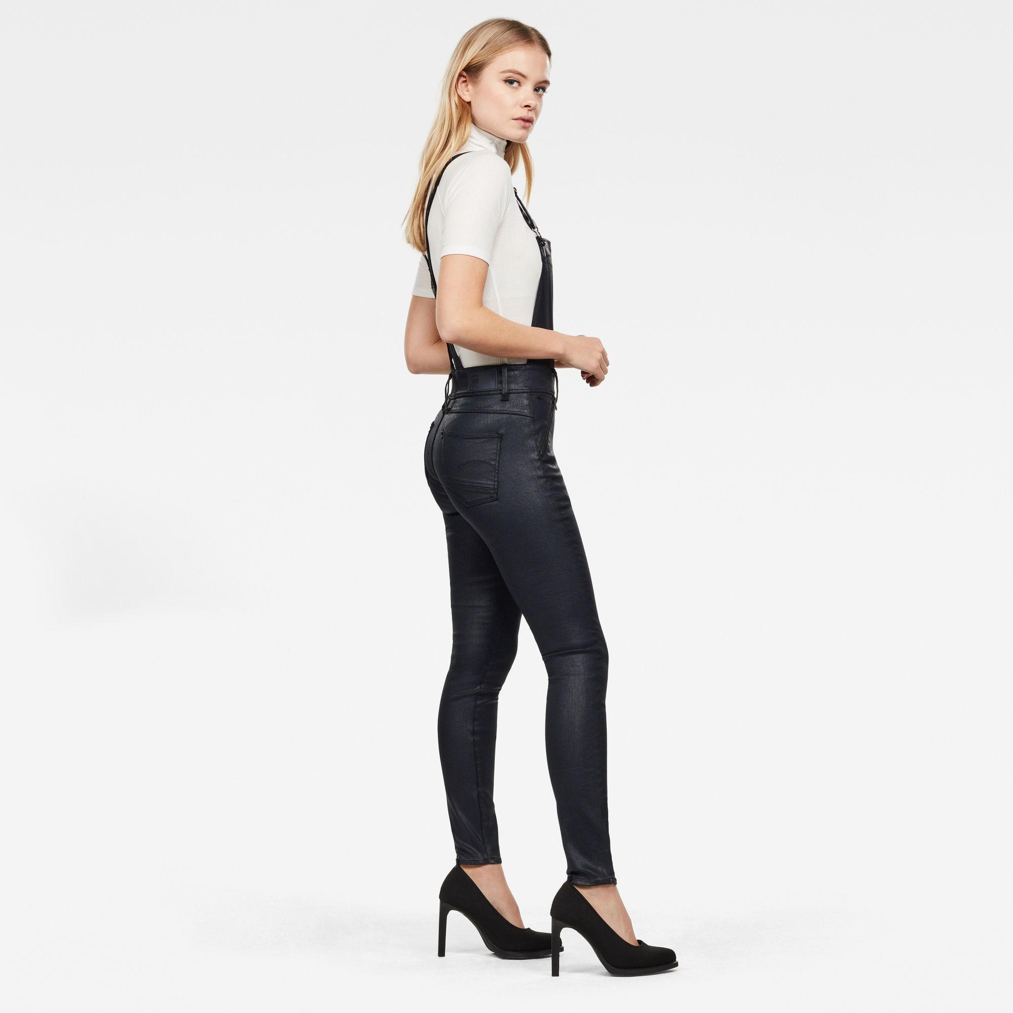Lynn Biker High Waist Skinny Overall