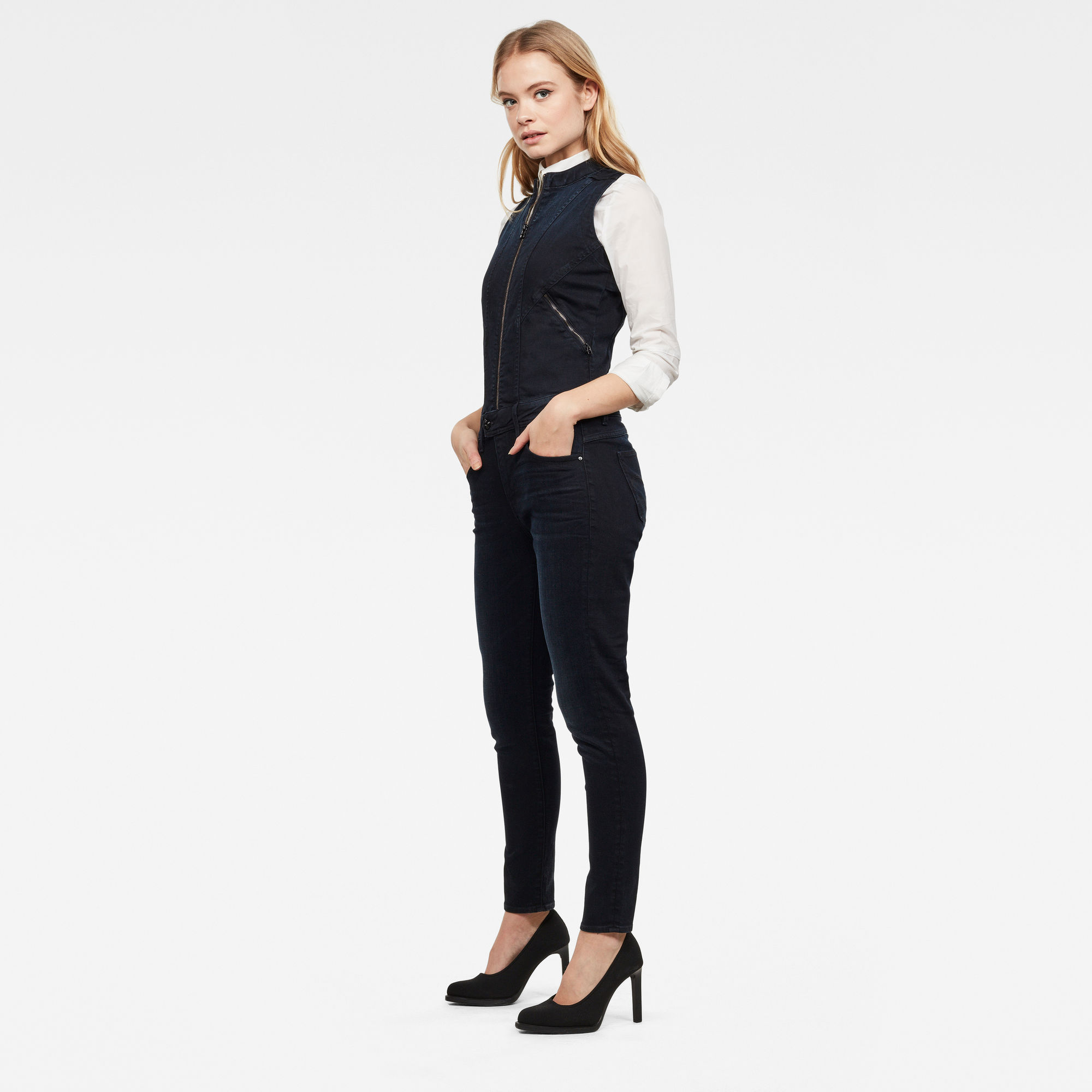 Lynn 2-Zip Slim Jumpsuit