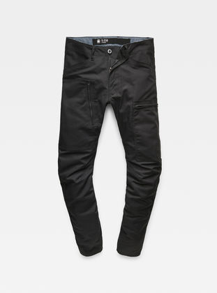 Powel 3D Tapered Pants   Black   Men   G Star RAW®