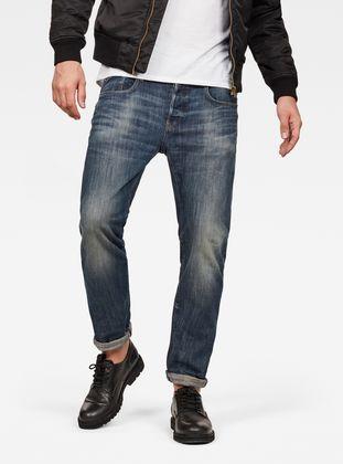 G STAR RAW 3301 Slim Dark Jeans, Bleu (DK Aged Antic 5543
