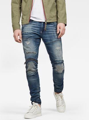 G-Star Men/'s 5620 3D Zip Knee Skinny Jeans Blue