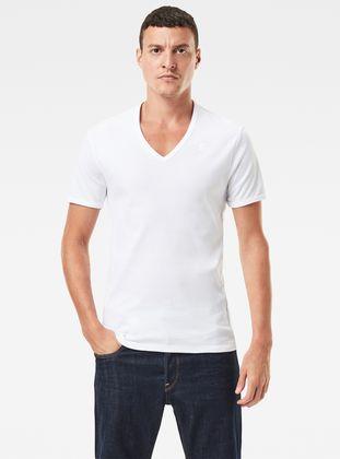 Basic V Neck T Shirt 2 Pack
