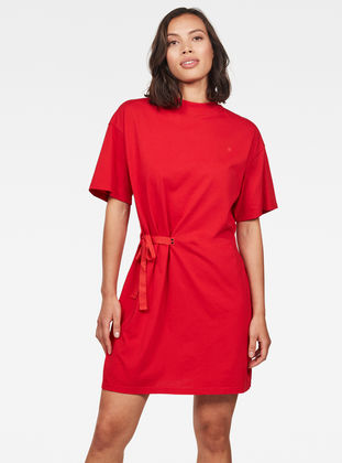 Disem Loose Dress Acid Red G Star Raw