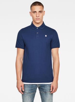 G-Star Mens Dunda Slim Polo Shirt Blue