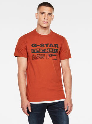 G-STAR RAW Wavy Logo Originals Camiseta para Hombre