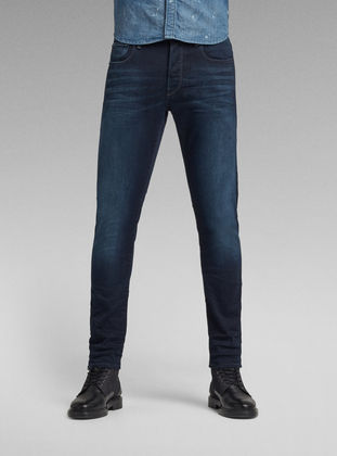G-Star 3301 Slim Memphis Denim Light Aged T P Mens Jeans Size 33W 34L *REF107-E