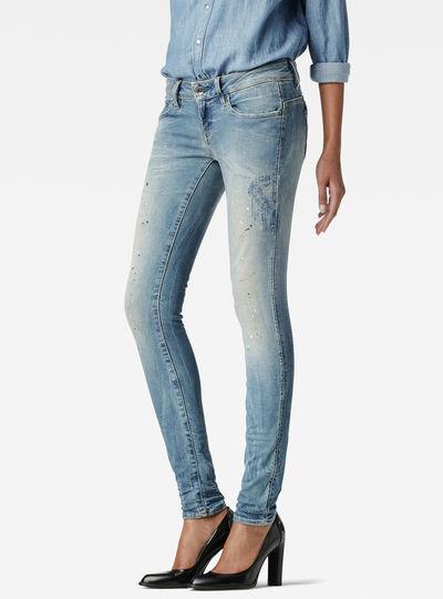 Midge Zip Low Waist Super Skinny Jeans