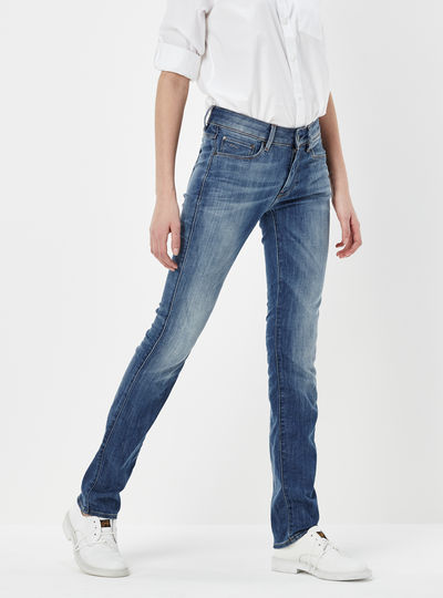 3301 Contour High Straight Jeans