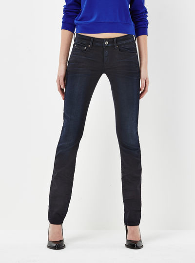 Attacc Mid Waist Straight Jeans