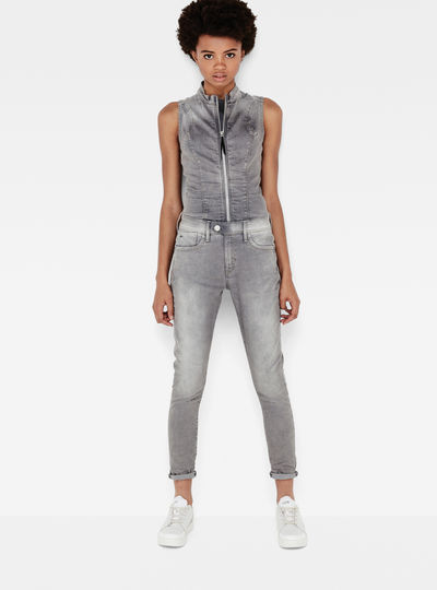 Lynn Zip Slim Sleeveless Suit