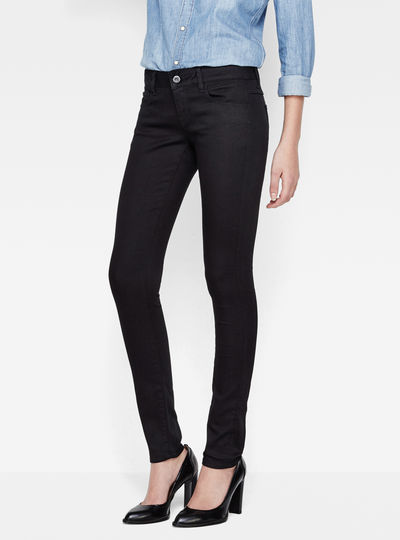 3301 Deconstructed Low Waist Super Skinny Jeans