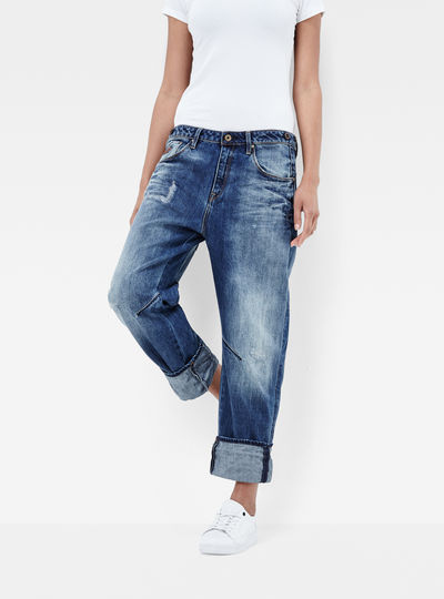Arc Braces Oversize 3D Low Boyfriend Jeans