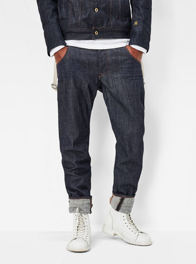 Arc 3D Tapered Braces Jeans