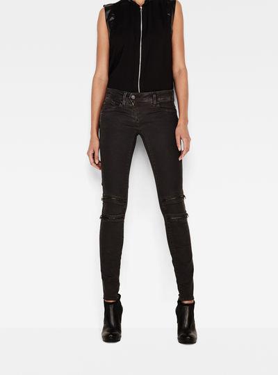 Lynn Custom Mid Waist Skinny Color Jeans