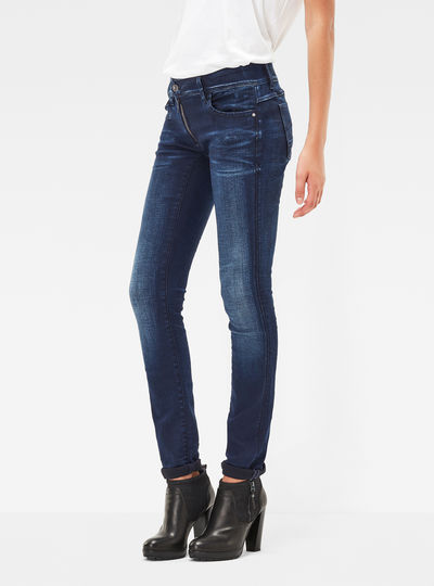 Lynn Zip Mid Skinny Jeans