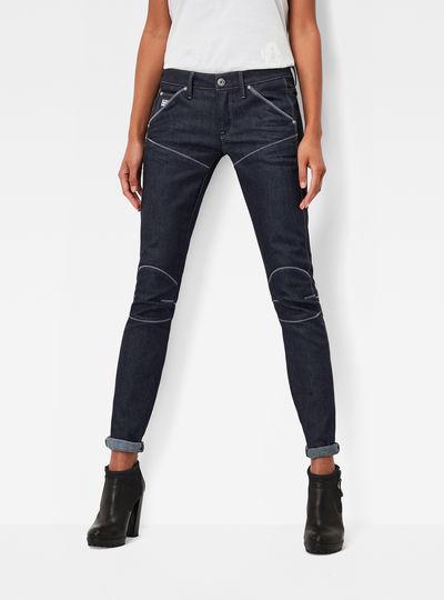 5620 G-Star Elwood Explained Mid Waist Skinny Jeans