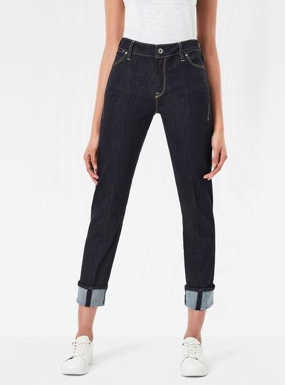 Lanc 3D High Waist Straight Jeans