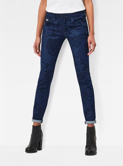 5620 Mid Waist Skinny Pattern Jeans