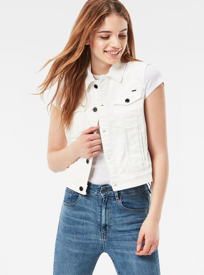 3301 Moto Cropped Denim Jacket