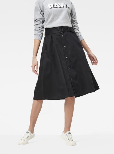 Bronson Paperbag Waist Skinny Skirt
