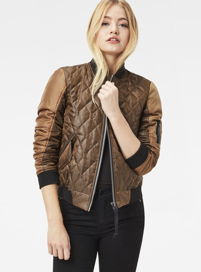 Rackam Hybrid Quilted Cropped Bomber