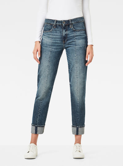 Lanc 3D High Waist Straight Prestored Jeans