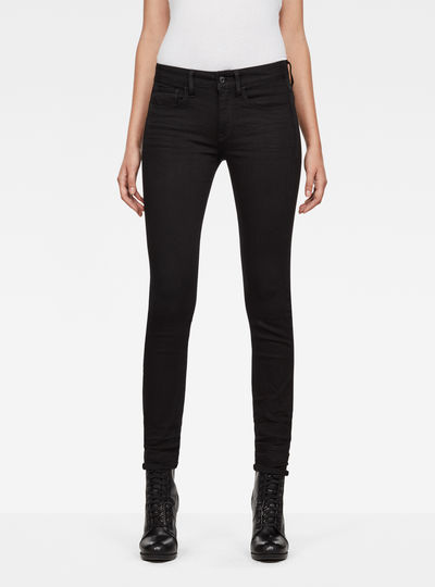 3301 Deconstructed Mid-Waist Skinny Jeans