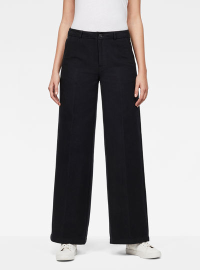 Bronson High-Waist Wide-Leg Chino