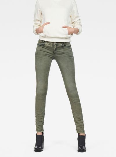 D-Staq 5-Pocket Mid Skinny Color Jeans