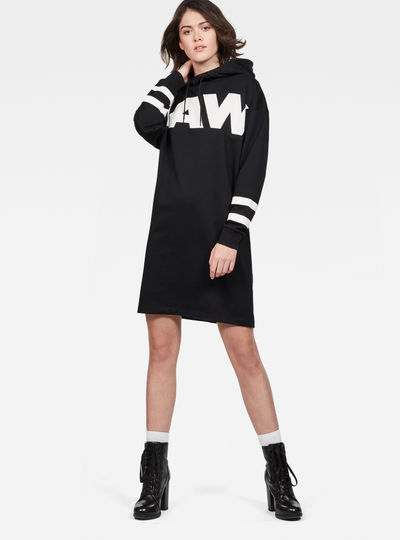 Scolla Oversized Hooded Sweater Dress