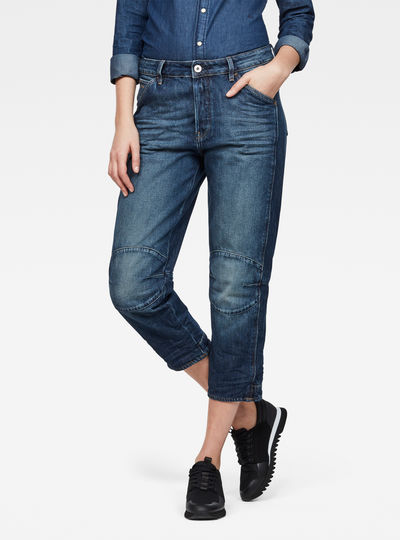 5622 3D High Waist Boyfriend 7/8-Length Jeans
