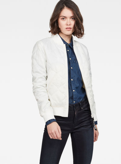 Deline Quilted Padded Slim Bomber