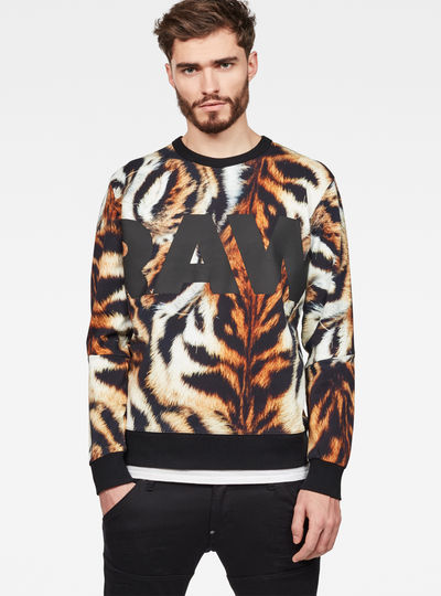 Mostom Oversized Tiger Stalt Deconstructed Sweater