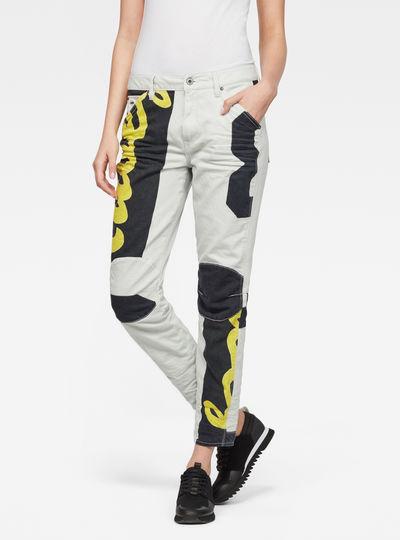 5622 3D Mid Boyfriend Color Jeans