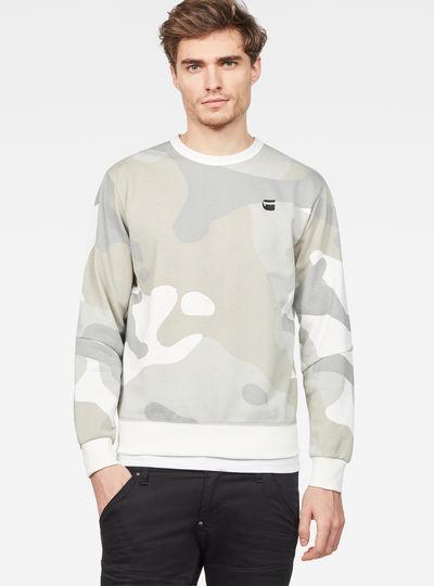Oversized  Dutch Camo Stalt Deconstructed Sweater