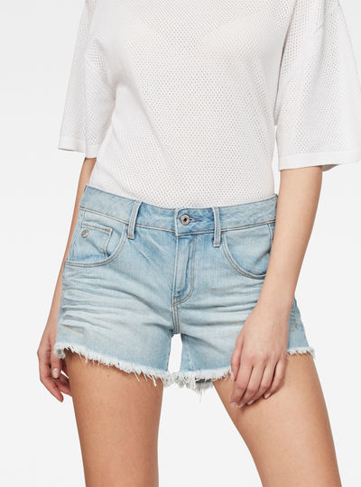 Arc Mid Waist Ripped Shorts